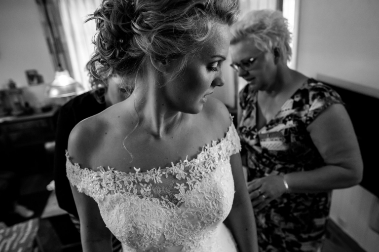 Trouwreportage, Bruidsfotografie, trouwen, Drenthe, Coevorden, Peter en Sanne, Holsloot